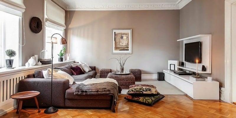 Farbe Cappuccino Wohnzimmer