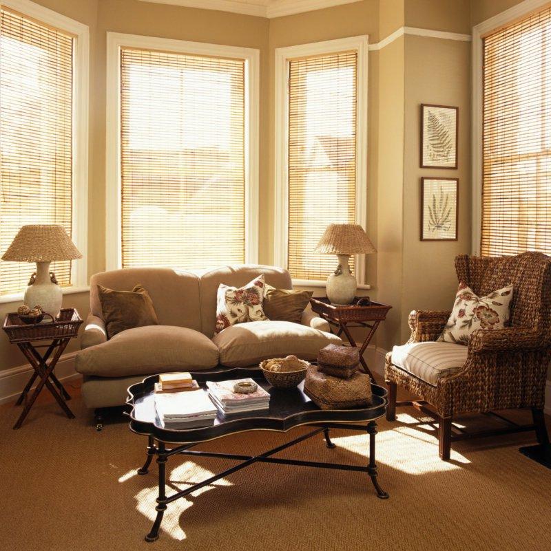 Farbe Cappuccino Wohnzimmer im Landhausstil sehr gemütlich