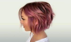 Choppy Bob modern rosa Haare