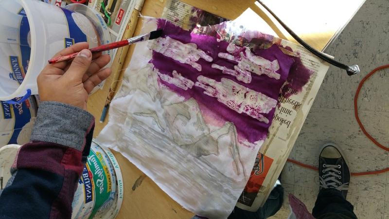 Farbstoff für Textilien auftragen