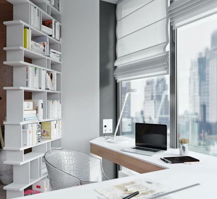 Home Office einrichten genug Stauraum