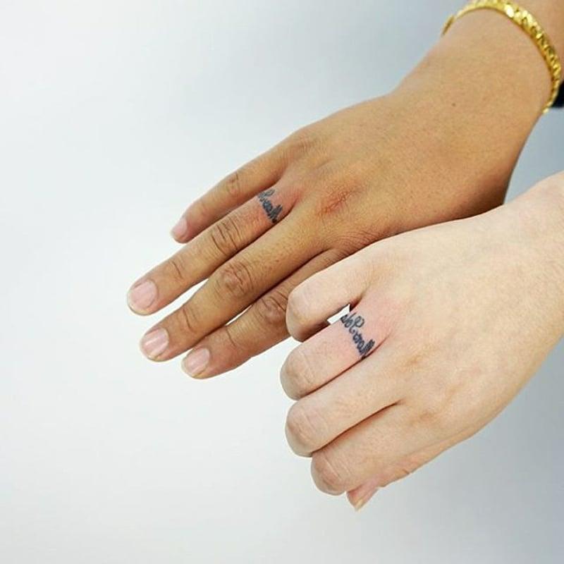 romantische Tattooideen Ehepartner