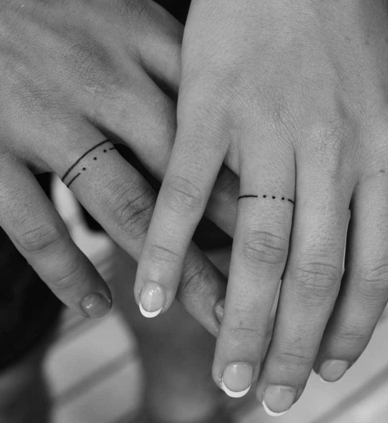 Eheringe Tattoo einfache Bänder