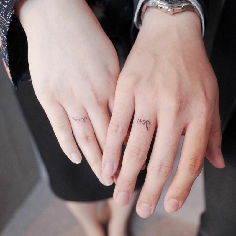 Eheringe Tattoo Namen schön