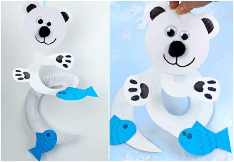 DIY Eisbär mit Wackelaugen