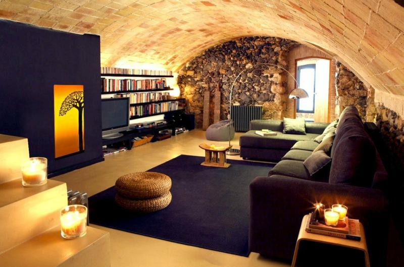 Wohnzimmer orientalisch Decke gewölbt