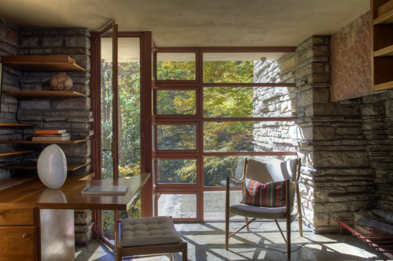 Fallingwater House Interieur, inspiriert von der Natur