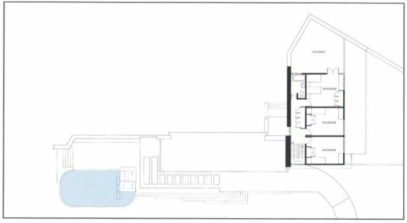 Pläne Fallingwater House zweite Etage
