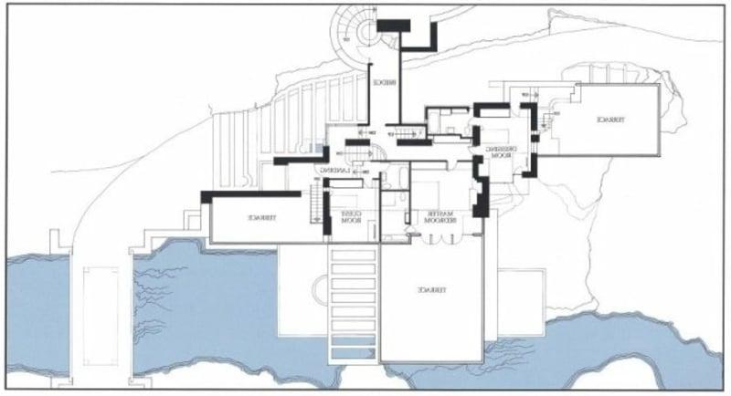 Fallingwater House Pläne
