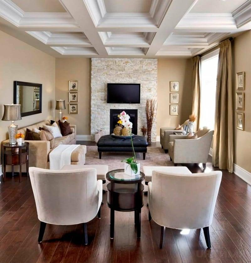 Wohnzimmer prachtvoll modern neutrale Farbtöne