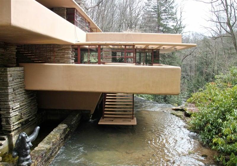 Fallingwater House eindrucksvolle Fassade