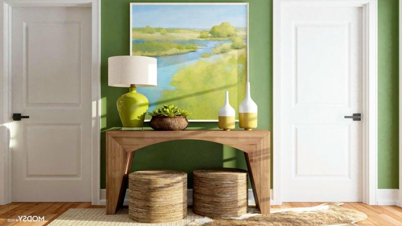 Flur einrichten Farbgestaltung, inspiriert von der Natur