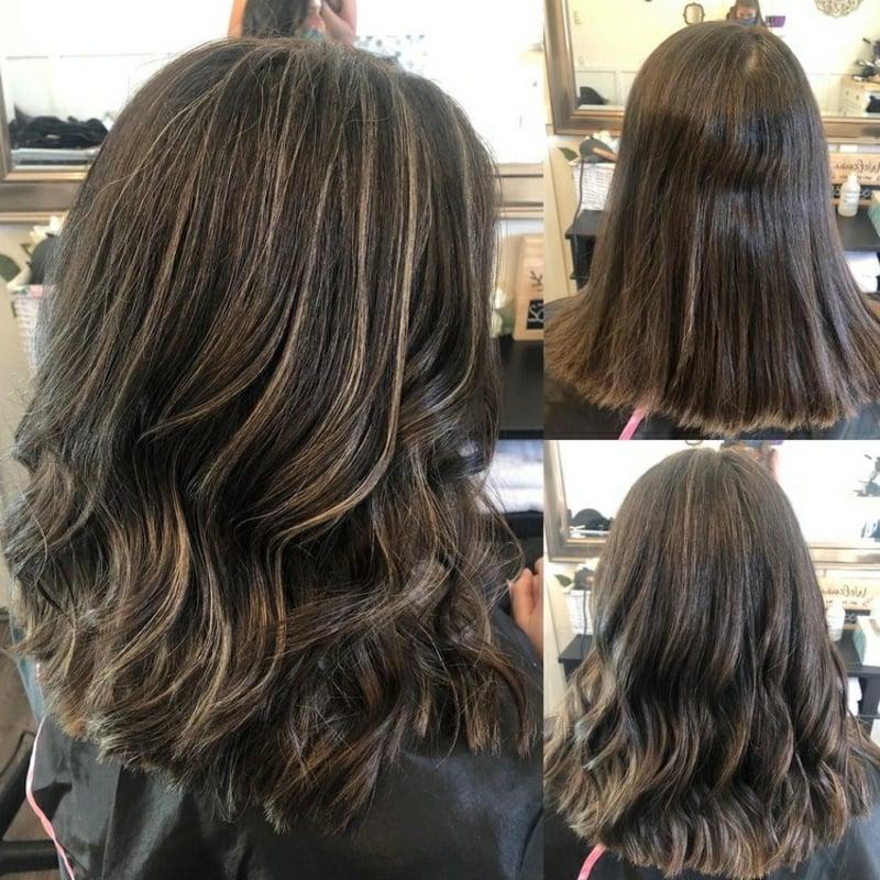 graue Haare abdecken Highlights