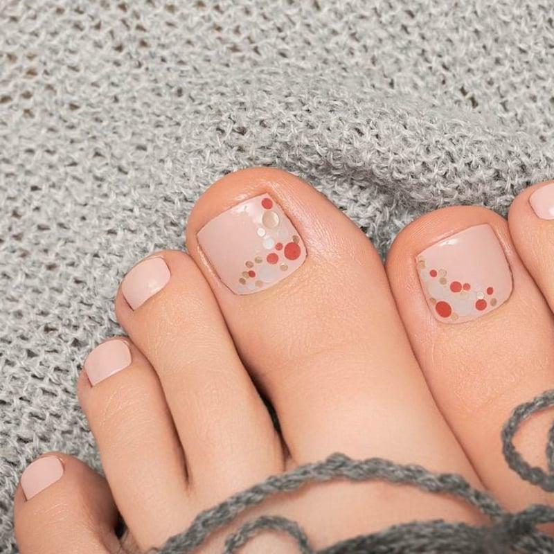 Fußnageldesign Pastellrosa Glitzer