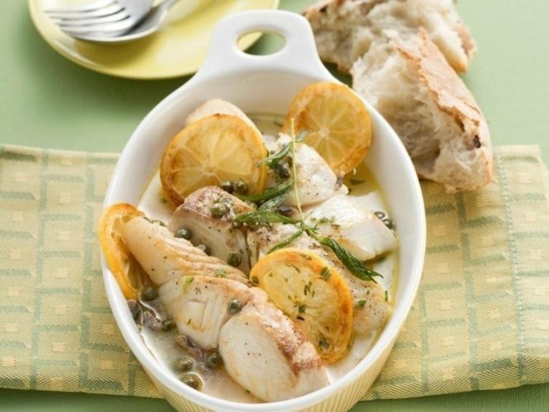 gebackener Fisch mit Zitrone