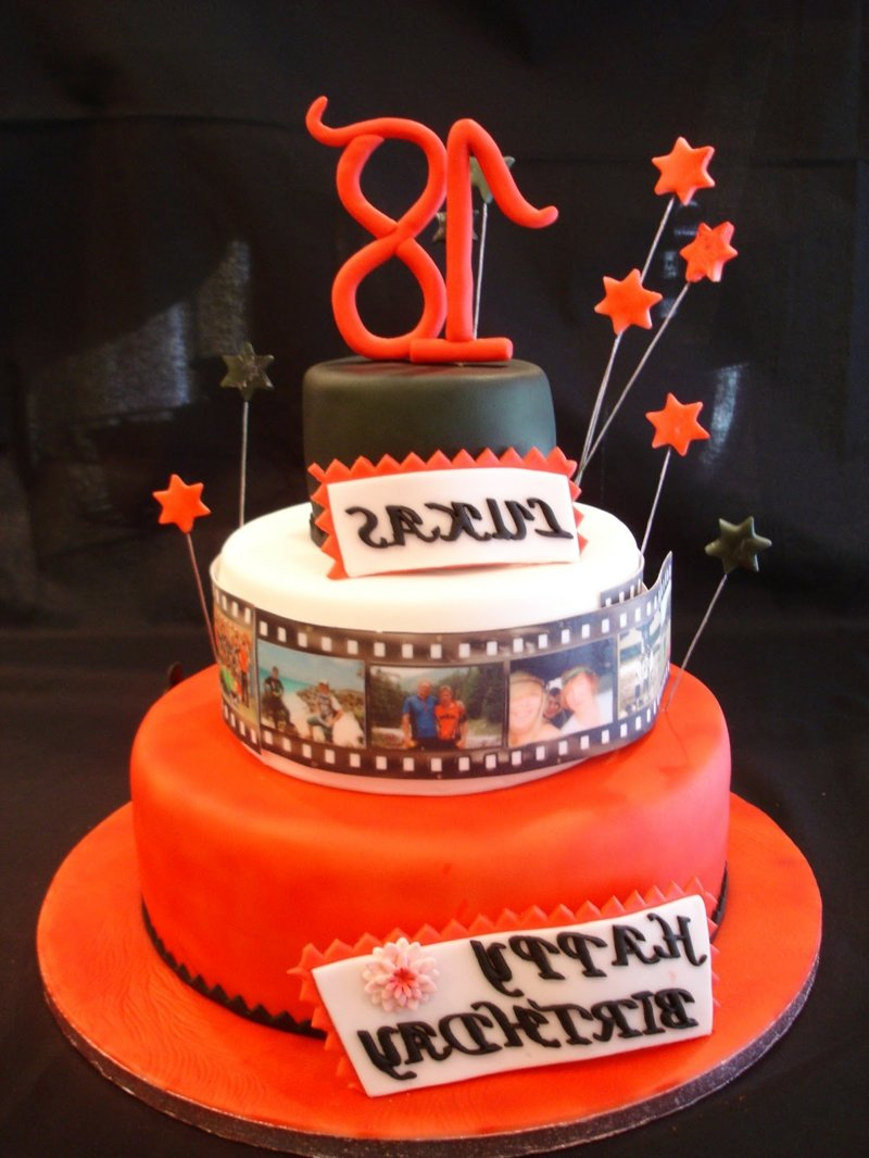 18. Geburtstag feiern Torte Filmmotive