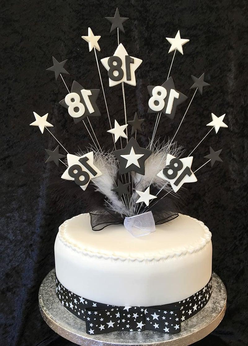 Geburtstagskuchen weiß Sternchen