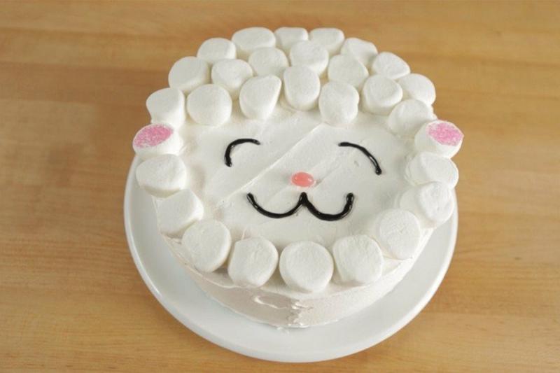 Torte mit Marshmallows