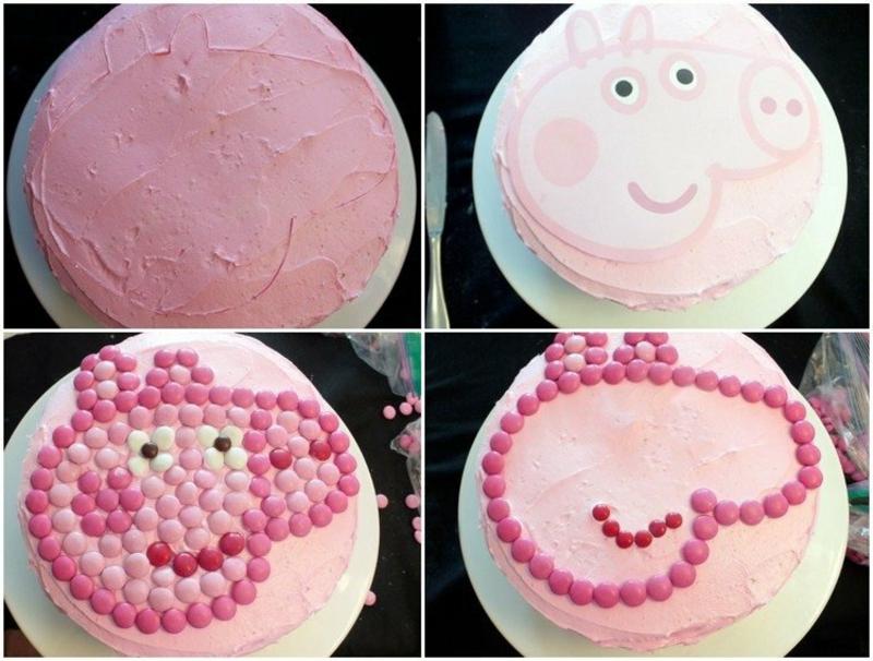 Tortendeko für Kinder lustig Schweinchen