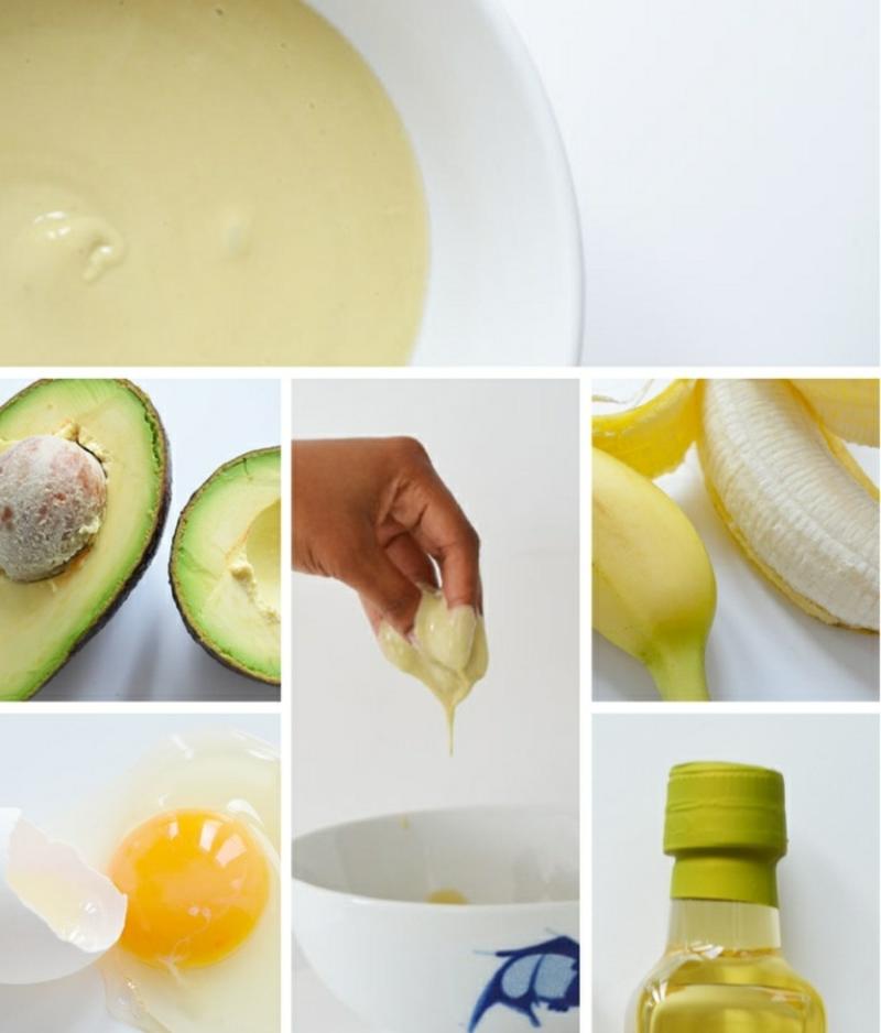 Avocado Maske Haarspitzen reparieren
