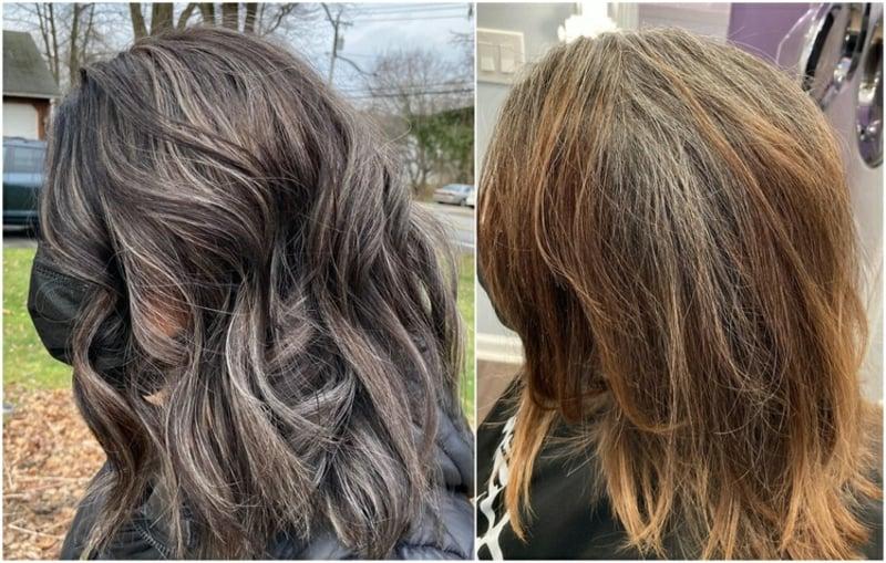 Haarfärben im Alter vorher nachher