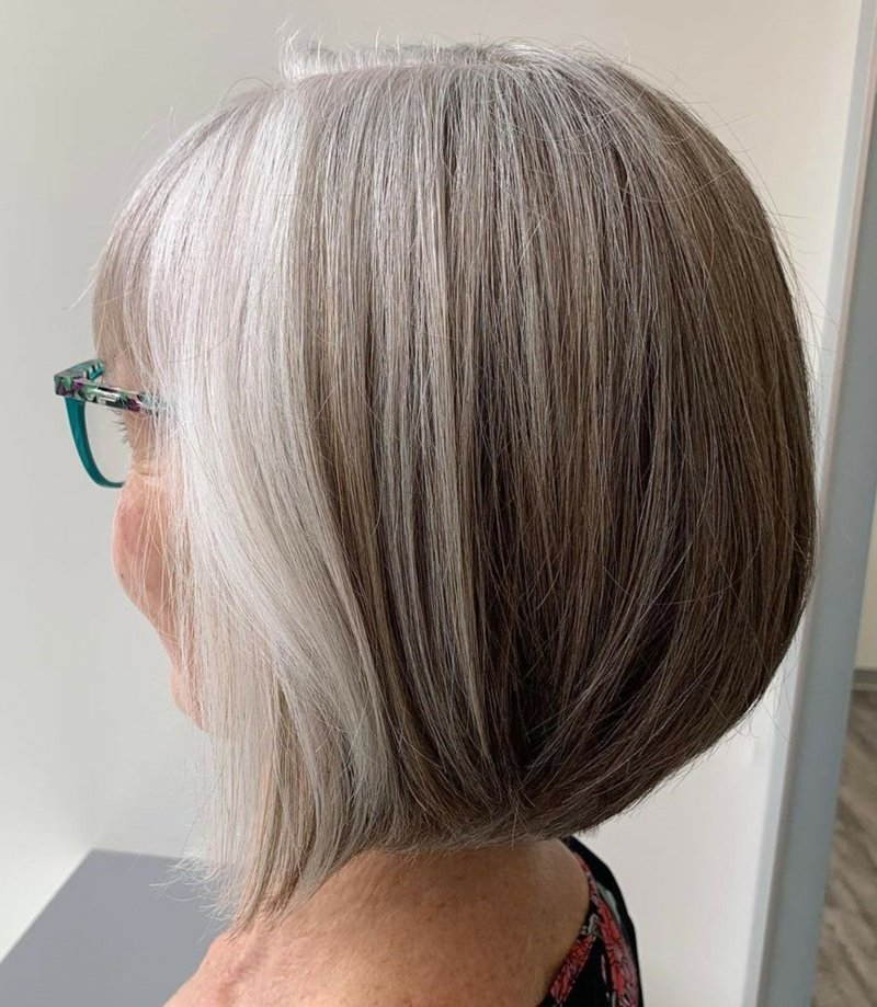 graue Haare colorieren Schritt für Schritt