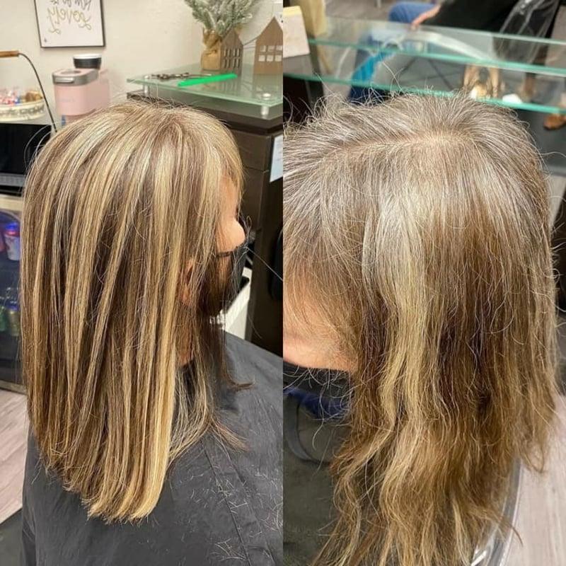 graues Haar mit Highlights toller Look