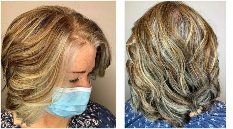 Haare colorieren in Alter Highlights