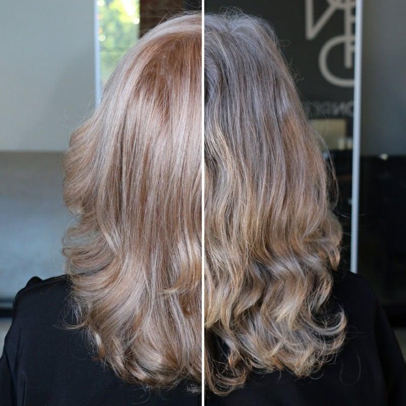 graue Haare Erdbeerblond