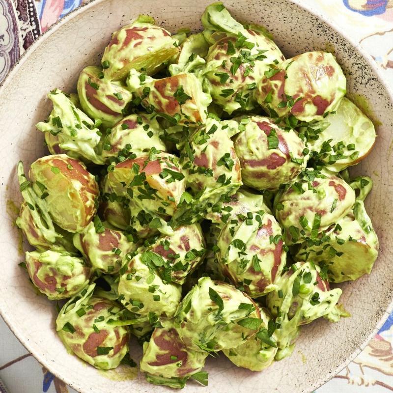 grüner Kartoffelsalat super sättigend