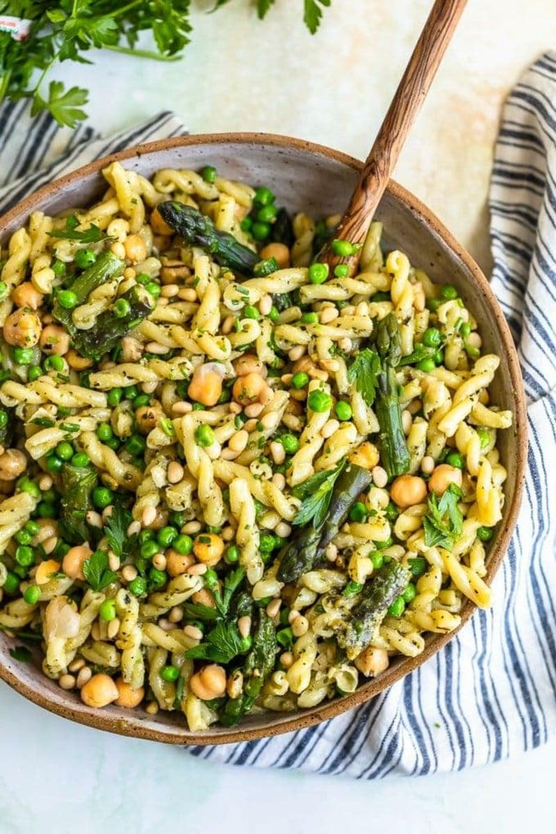 grüne Pasta zubereiten leicht und lecker