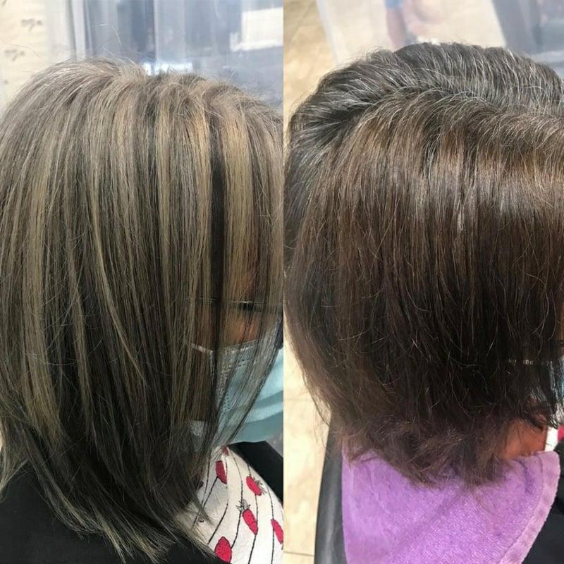 Highlights und Lowlights für graues Haar