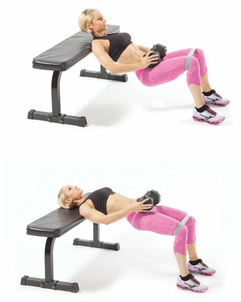 Workout für das Fitnessstudio Hip Dips