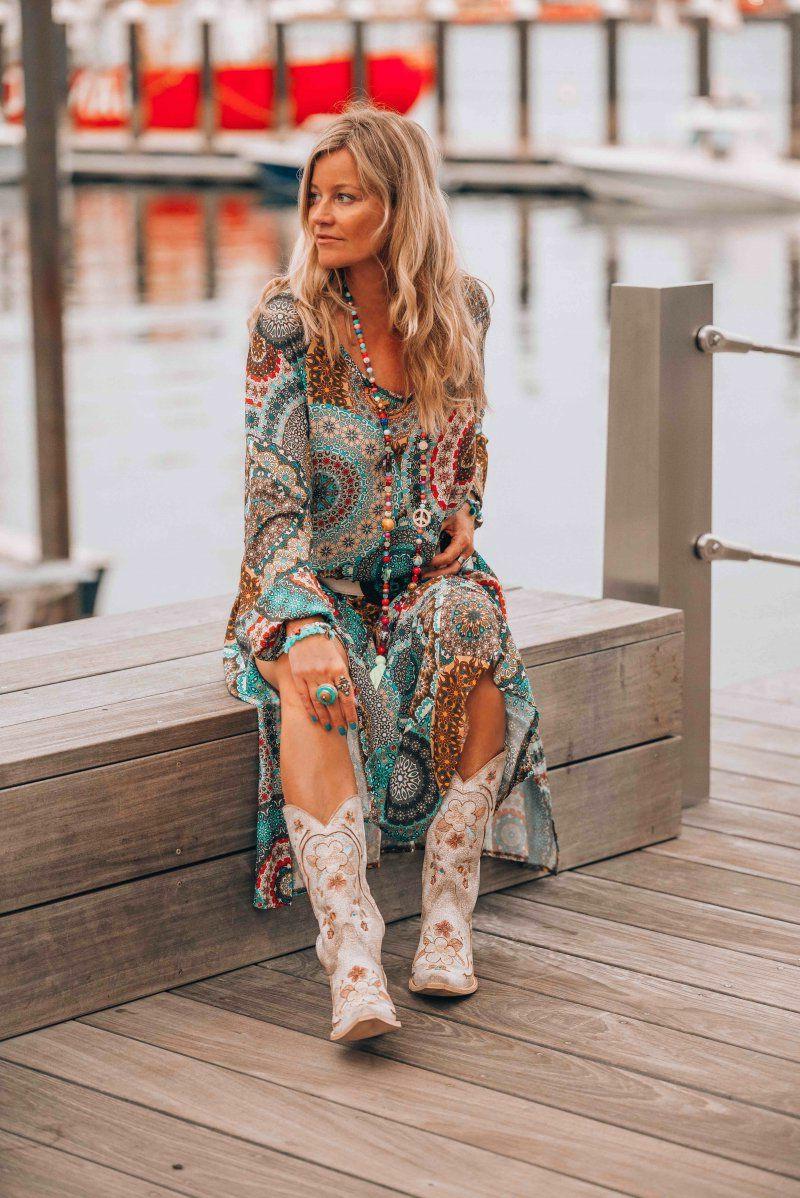 Hippie Stil modische Ideen Statement-Stiefel