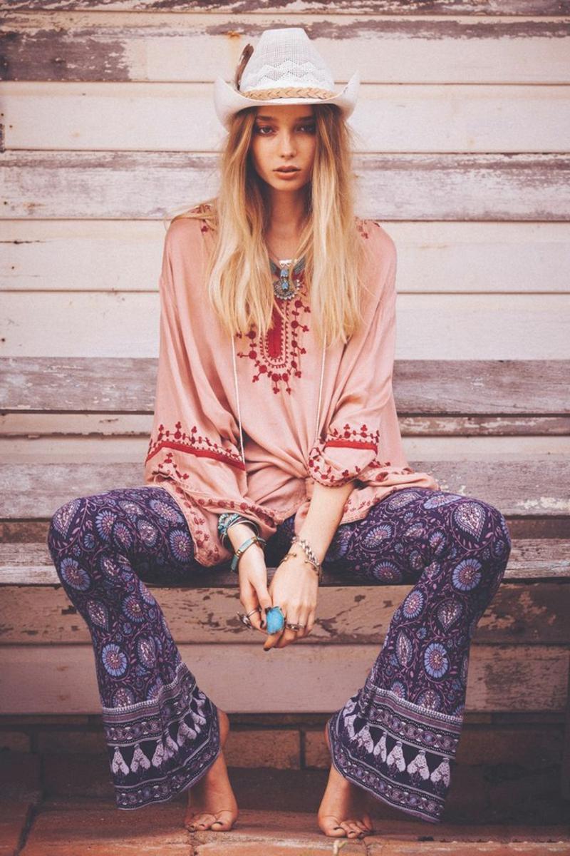 Hippie Modee Ideen für Damen