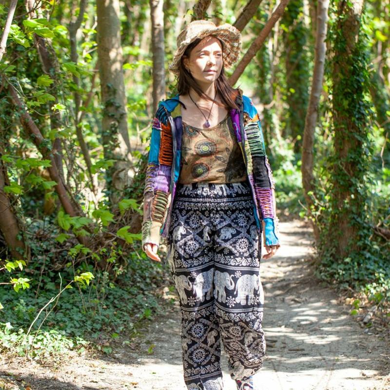 Hippie Stil mit Farben experimentieren