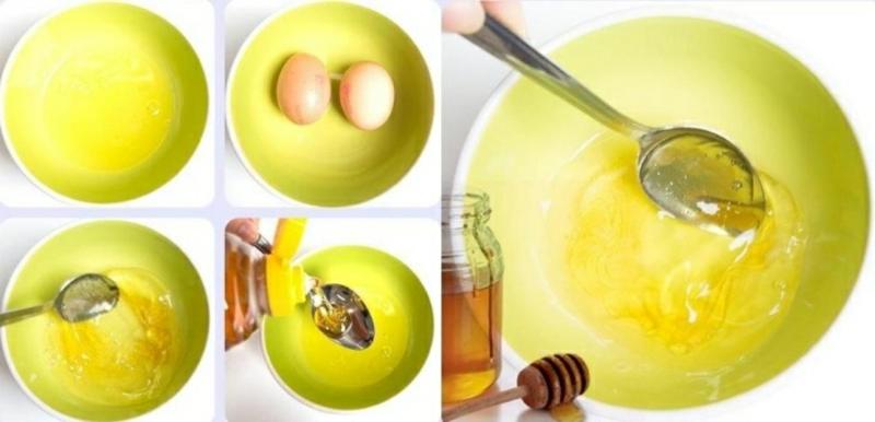 Haarmaske machen mit Honig und Ei
