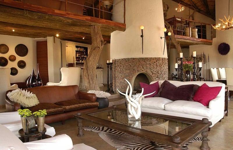 Wohnzimmereinrichtung eindrucksvoll afrikanisch