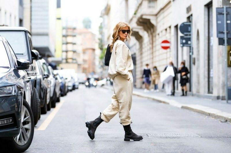 Joggers tragen Urban Style
