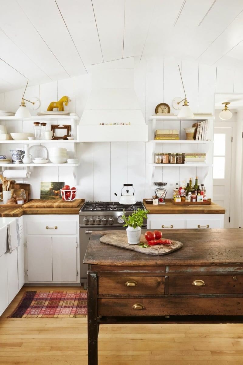 Küche dekorieren Tipps den Rauum heller machen