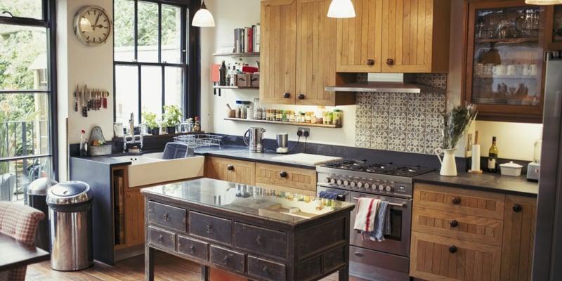 kleine Küche gemütliches Ambiente