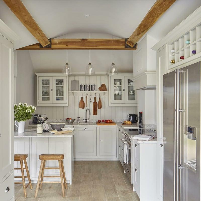 Küche dekorieren Tipps Landhausstil einladend