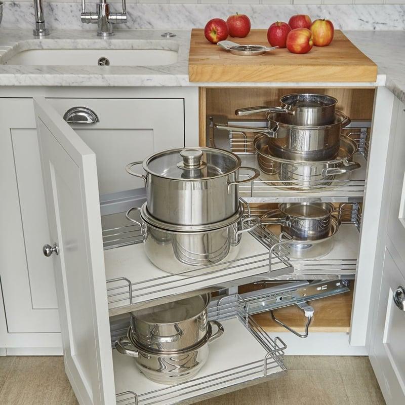 Küche dekorieren Tipps für mehr Stauraum