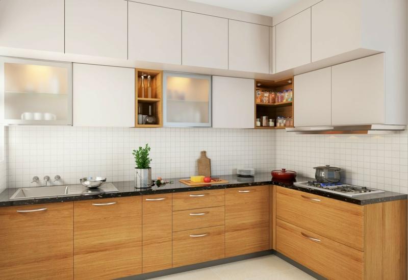 Küche dekorieren Tipps praktische Küchenschränke