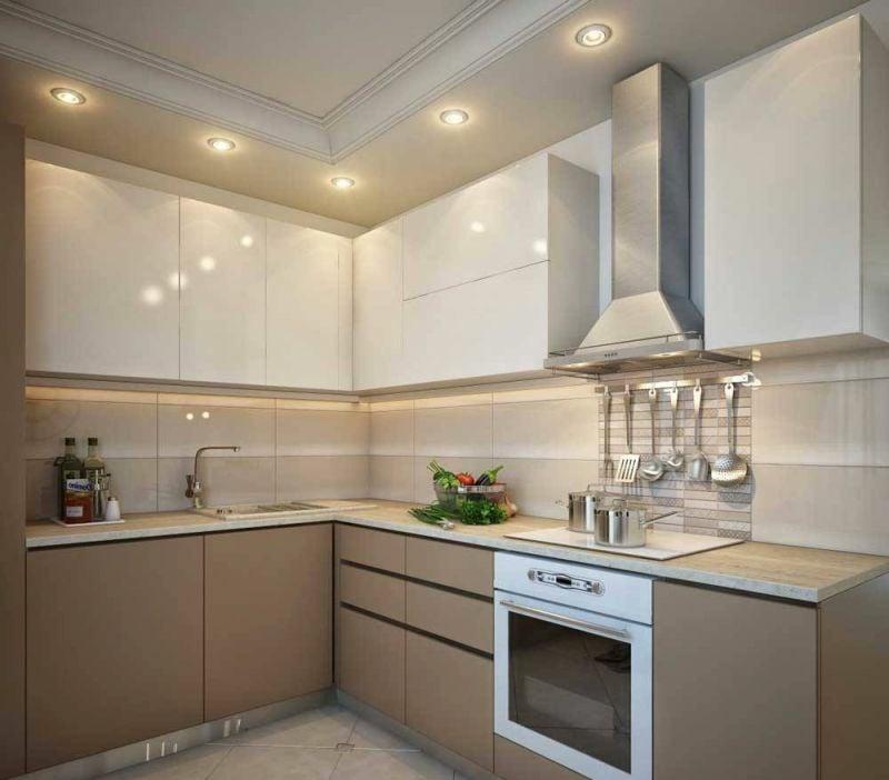 Küche schön einrichten moderne Geräte indirekte Beleuchtung