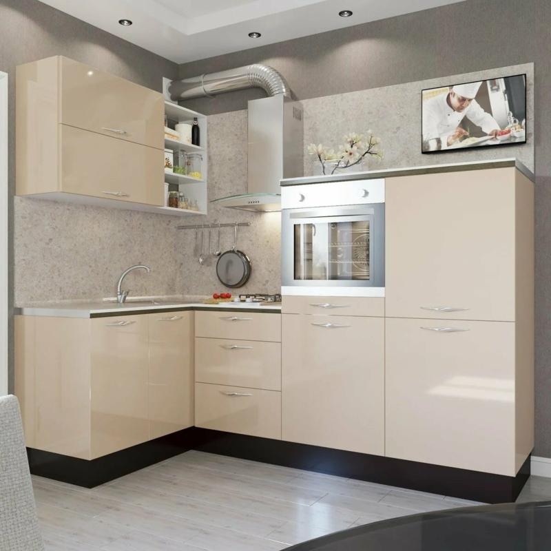 Küchenmöbel Farbe Cappuccino