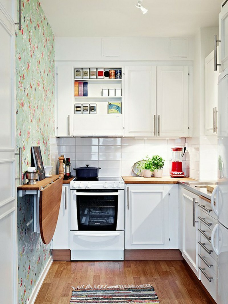 Küche dekorieren Tipps farbige Akzente