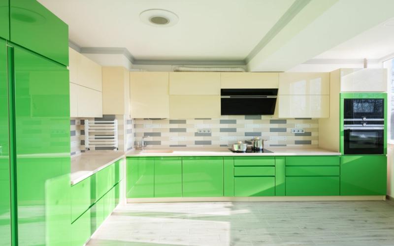 offene Küche minimalistisch einrichten