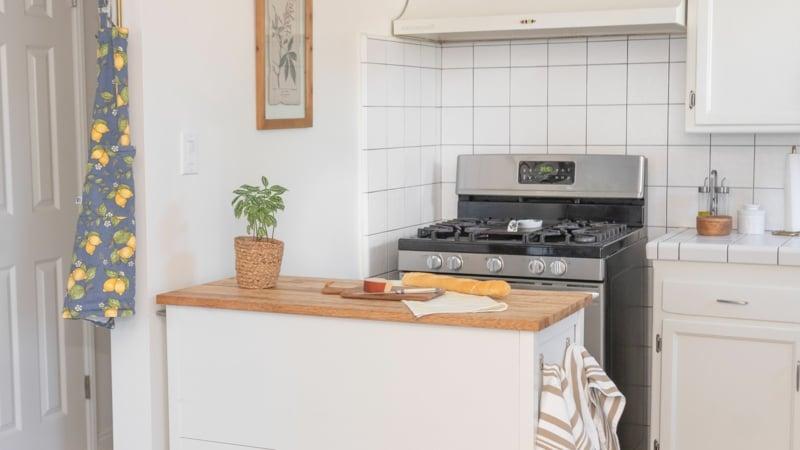 Küche dekorieren Tipps weniger ist mehr