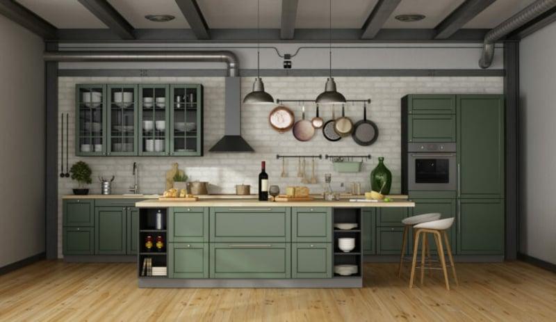 Küche dekorieren Tipps industrieller Stil